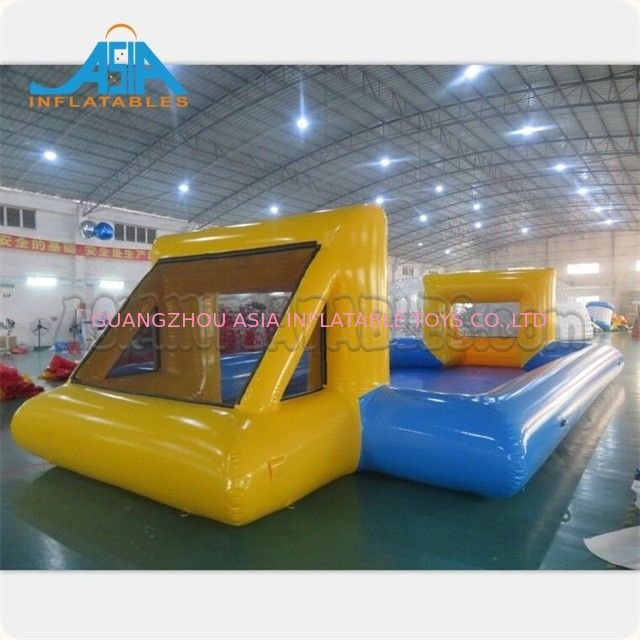 Customized Mad 's Over Sport 20x10m Inflatable Soap Football Arena / Inflatable Soapy Football supplier