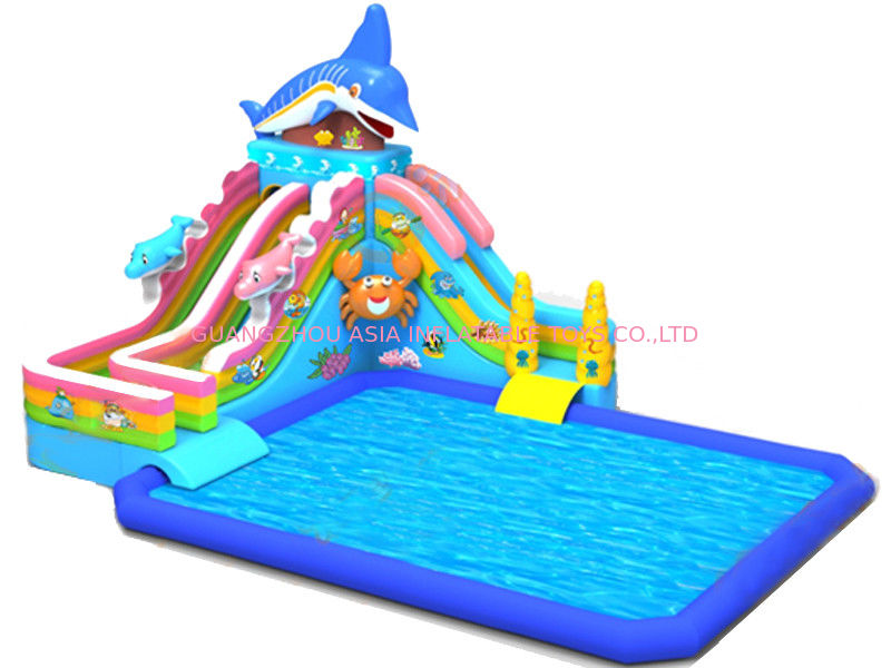 Parc aquatique gonflable d 39 enfants avec la glissi re de for Piscine enfant