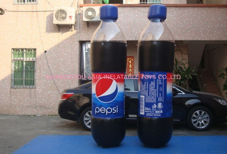 Replicate PVC Inflatable Bottles Pepsi Cola Bottle For Trade Show supplier