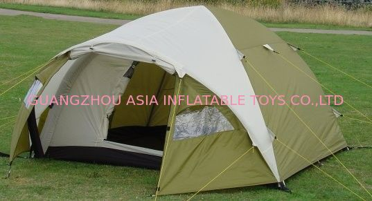 Easy Folding Inflatable Camping Tent with Metal Structure supplier
