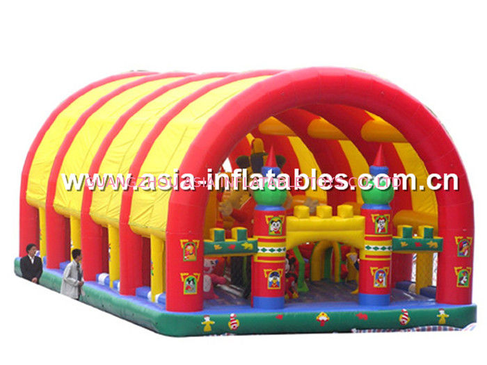 Inflatable Funcity With Giant Dome Cover And Cartoon Animal Models Inside supplier