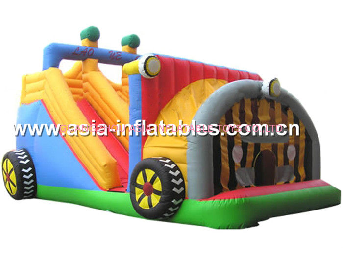 Backyard Use Inflatable Tractor Slide For Kids Entertainment supplier