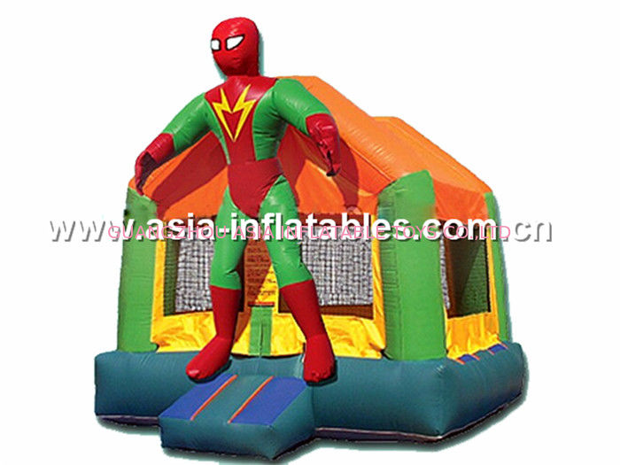 hot sale Superman inflatable combo with slide commercial quality supplier