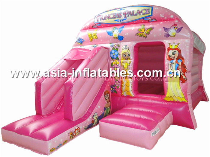 New inflatable princess pink bouncy castle/Commercial Inflatable combo supplier