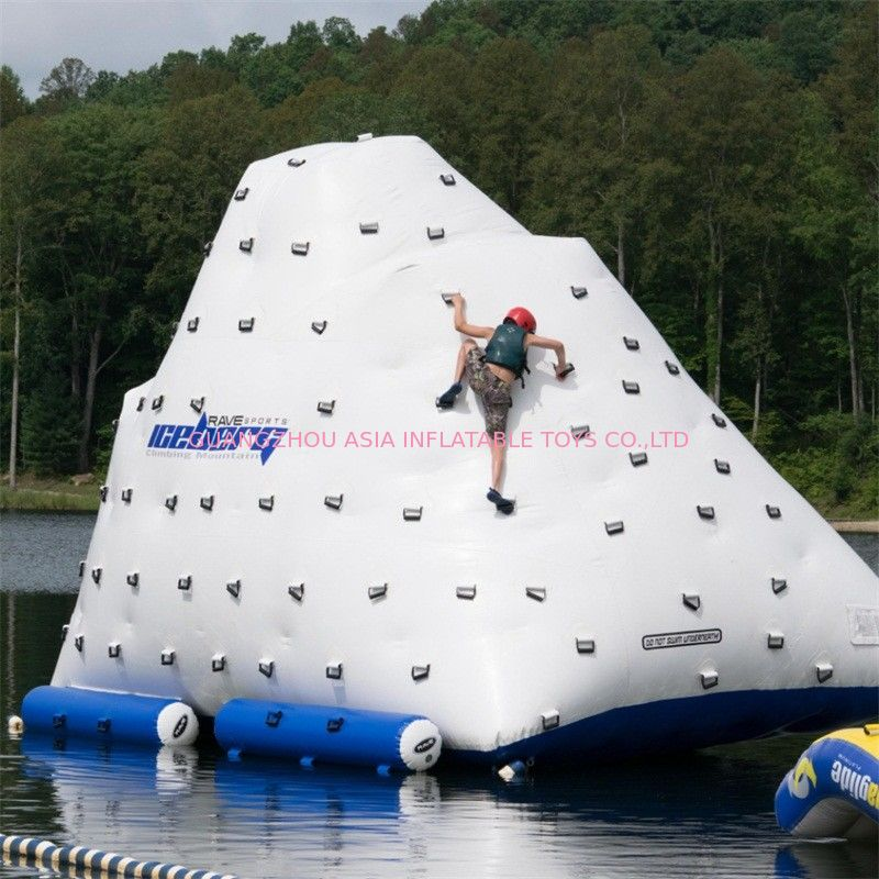 Funny Inflatable Water Iceberg / 0.9mm PVC Tarpaulin Plato Water Jumping Games supplier