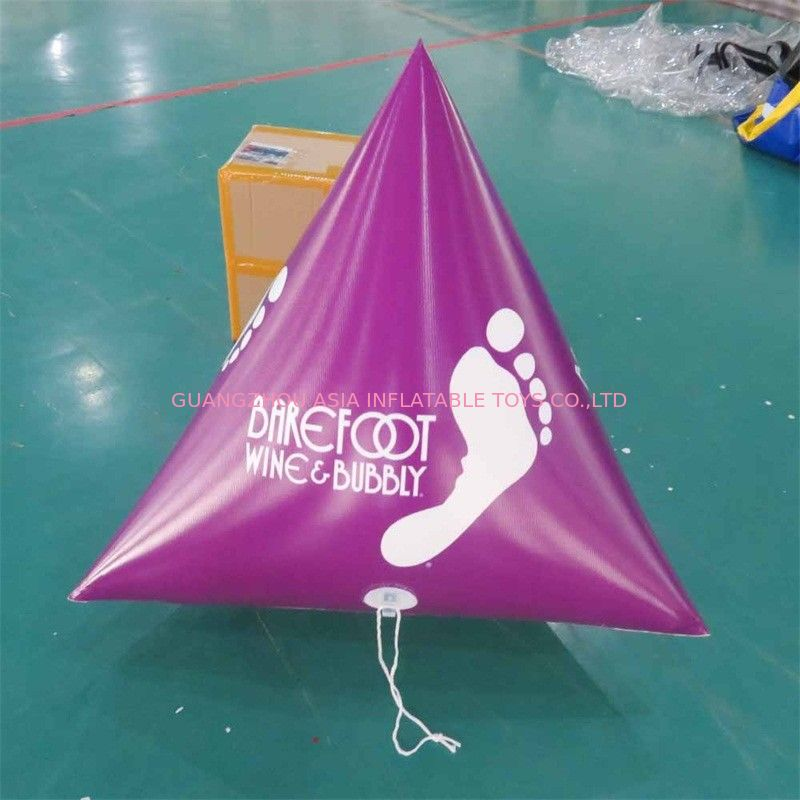 Panton Purple Color Dive Flag & Inflatable Buoys For Lake , River supplier