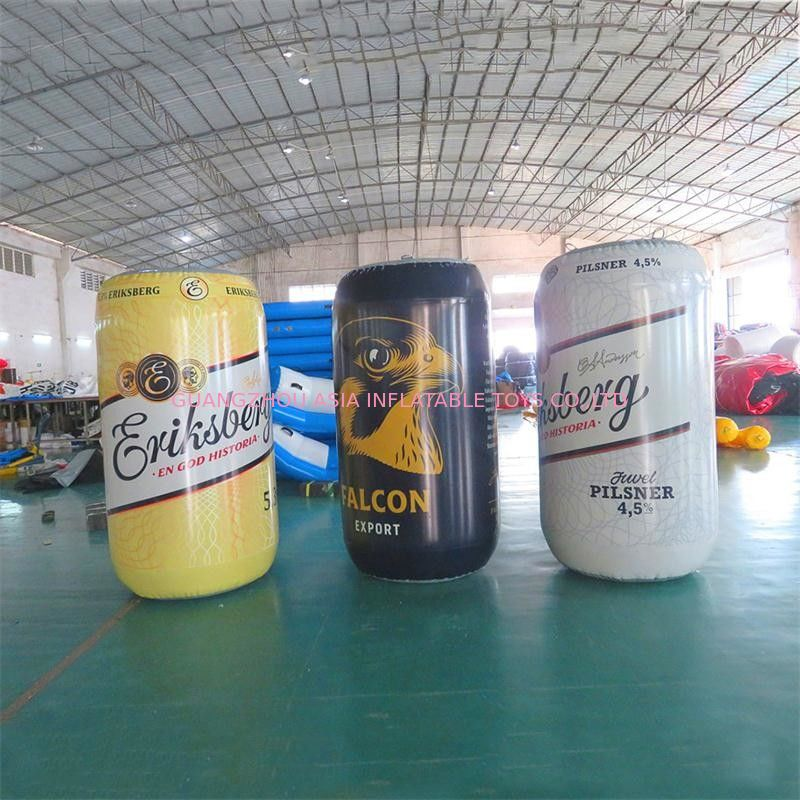 1.7m High PVC Sealed Printing Advertising Inflatables / Blow Up Can supplier