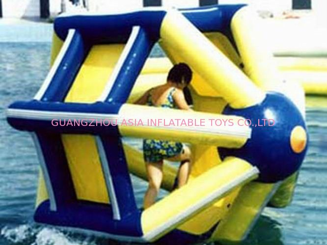 PVC tarpaulin Inflatable Water Roller , Inflatable Water Park Amusement Equipment