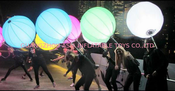 Advertising Inflatables Backpack Balloon With Light For