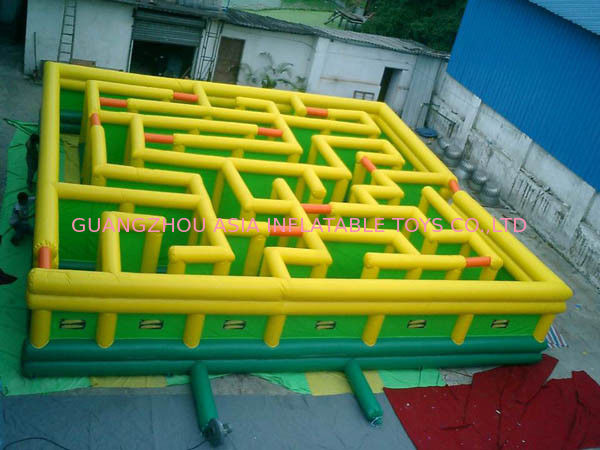 Inflatable Maze Games, Inflatable Tunnel Maze Game For Adults supplier