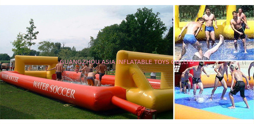 School Inflatable Soccer Field / Soap Football Field For Teenager Play supplier
