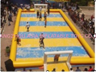 Children Inflatable Soccer Field / Inflatable Football Pitch For Coaching supplier