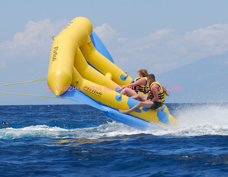 Inflatable sports stuff inflatable flying fish towable for Inflatable fly fishing boats