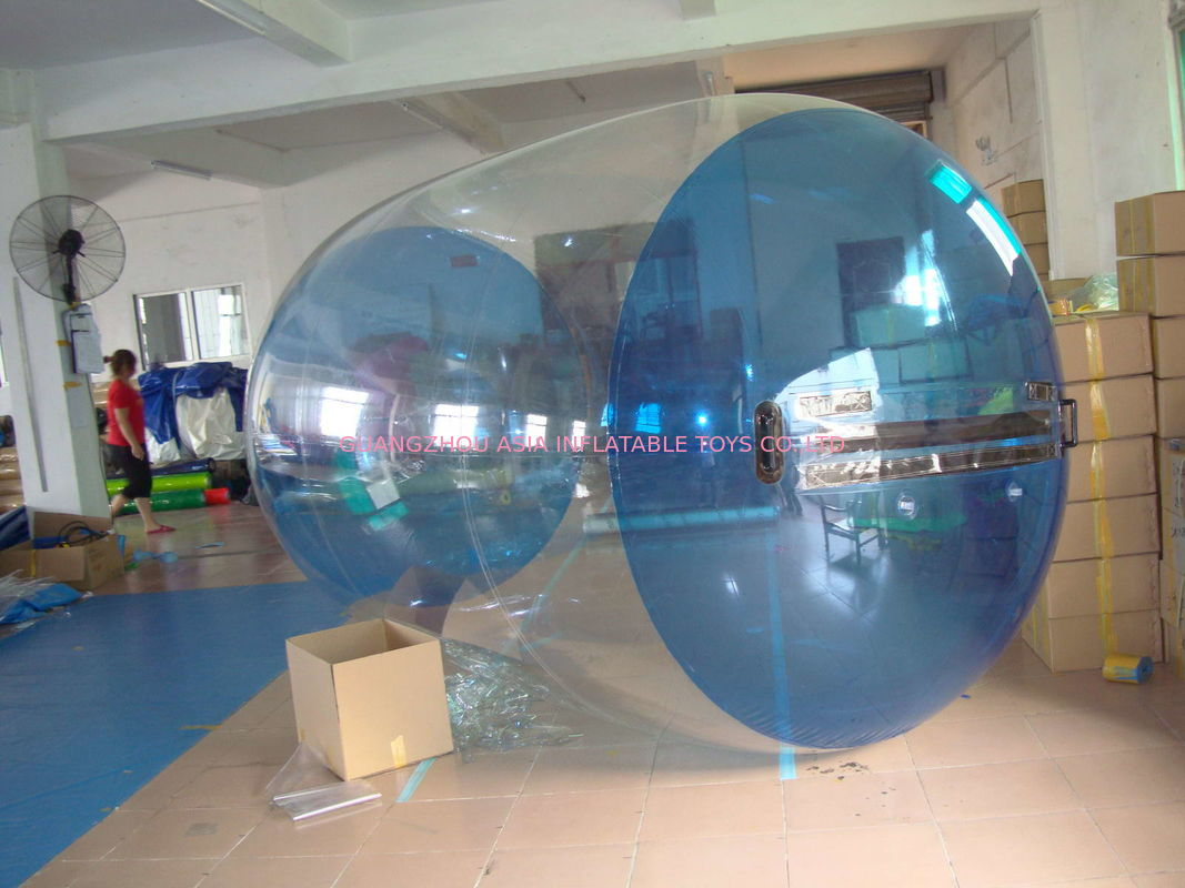Blue Transparent Inflatable Water Roller Balls for Kids Inflatable Pool supplier