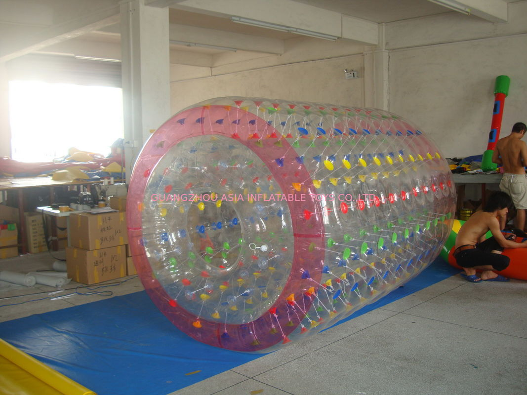 High Quality Color Dot Inflatable Water Roller for Recreation In Kids Inflatable Pool supplier