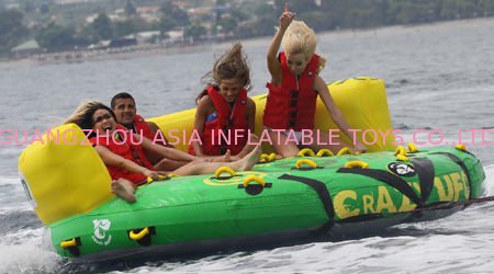 Outdoor Inflatable Water Park Sports , Inflatable Towable Water Sofa supplier