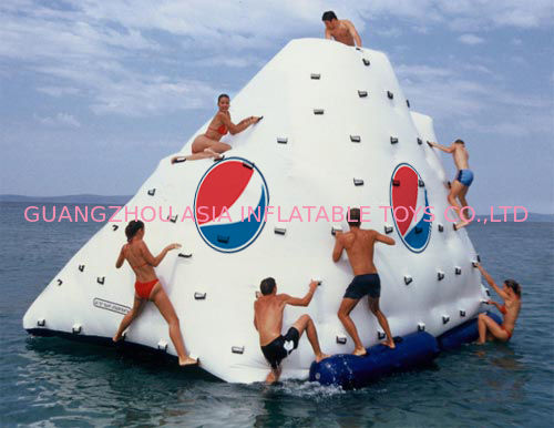 Business Logo / Slogan Printed Iceberg For Inflatable Water Games In Park And Sea Shore supplier