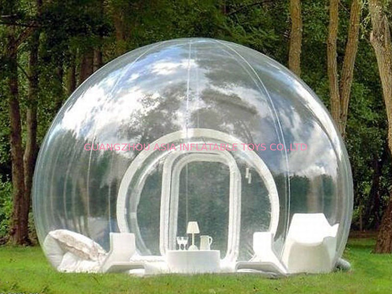 & Clear Inflatable Bubble Tent with One Tunnel