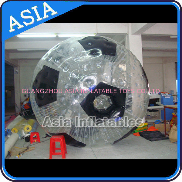 Football Shape Inflatable Zorb Ball , Zorbing Ball Used On The Sea supplier