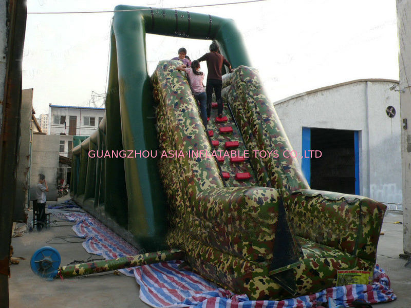 Inflatable Military Zip Line Ride Sport For Children Entertainment Games supplier