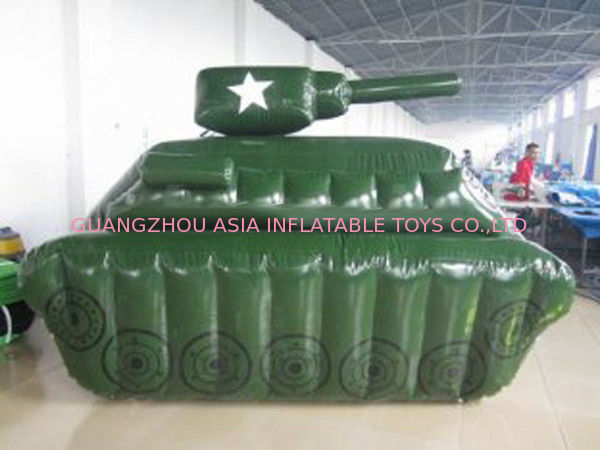 0.6mm / 0.9mm PVC Tarpaulin Fabric Inflatable Paintball Bunker supplier