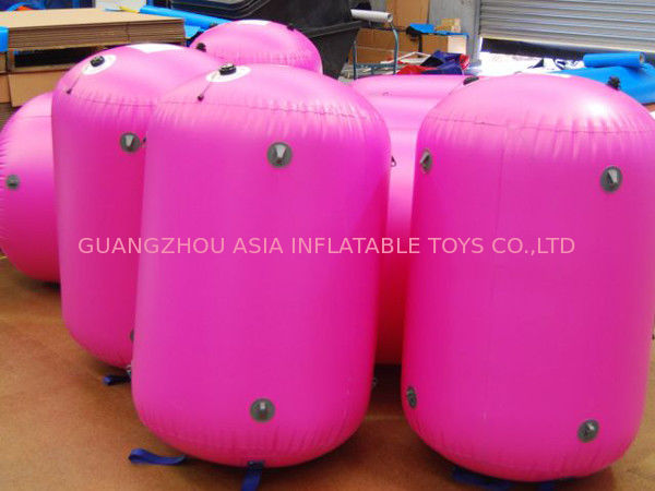 0.9mm PVC Tarpaulin customed inflatable paintball bunker supplier