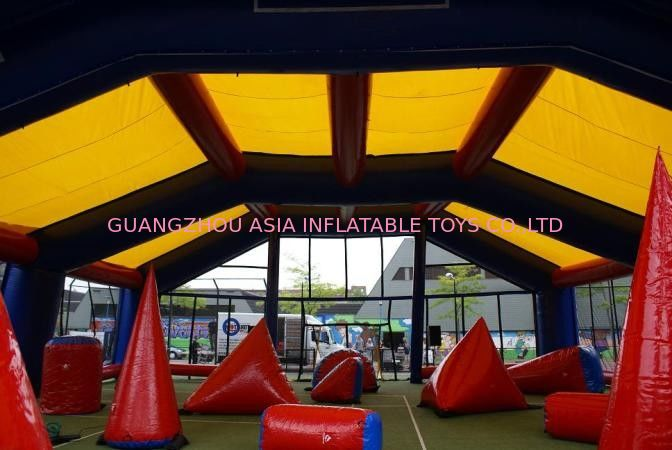 Water proof and fire resistant Inflatable paintball bunker tent supplier