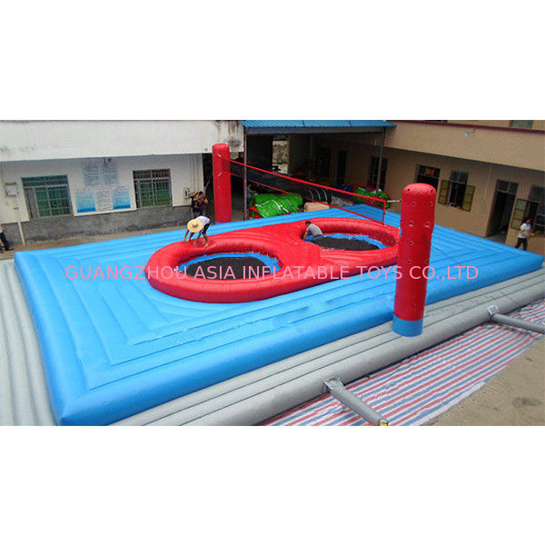 Inflatable Round Interactive Sport Game Bossaball Court for Sale supplier