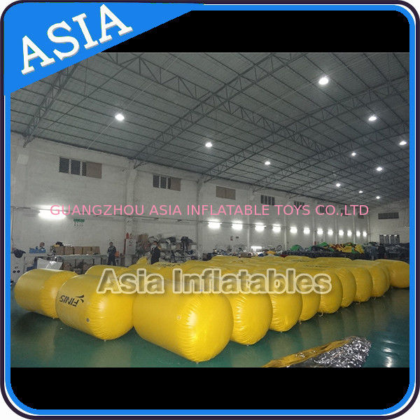 Inflatable Buoys , Cylinder Shape For Water Triathlons Advertising supplier