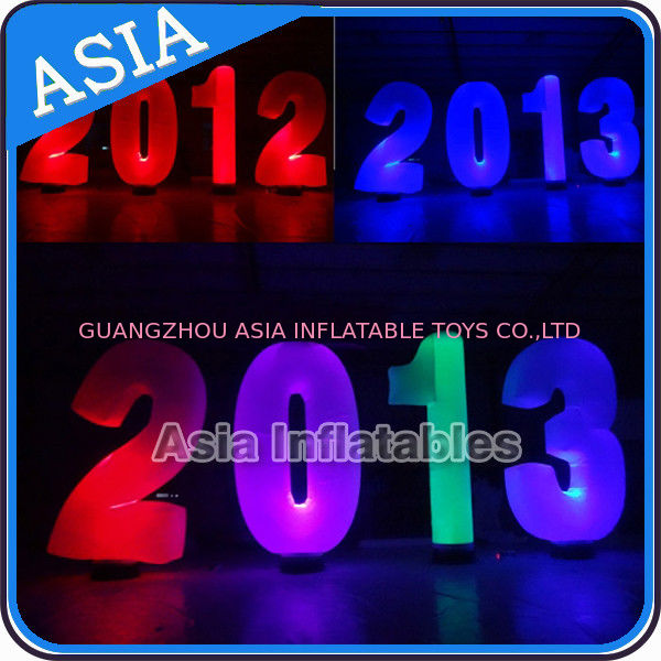 Inflatable Cone lighting led inflatable alphabet decoration at park or garden supplier