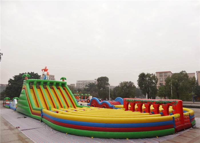 Fire Retardant Inflatable Backyard Obstacle Course For ...