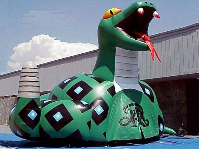 Inflatable Poison Snake Design Tunnel For Outdoor Business
