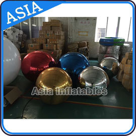 Helium Advertising Inflatables Mirror Balloon / Disco Mirror Ball For Outside Building Decoration