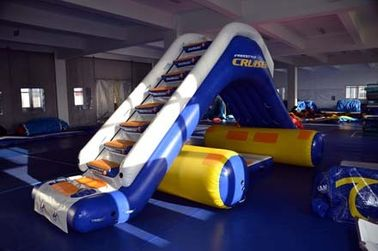 Inflatable Water Floating Slide For Yacht / Boat Amusement Games