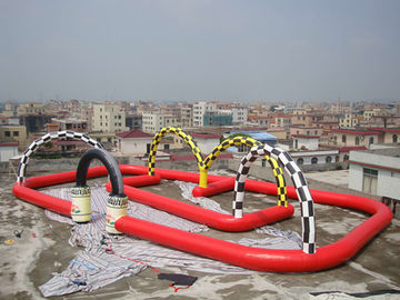 Commercial Giant Inflatables Racing Track For Leisure Activities