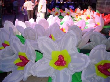 Fashion Lotus Flower Inflatable Lighting For Floating Artificial Decorative