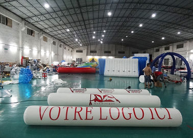 Inflatable Promoting Strip Buoy For Ocean Or Lake Advertising , Inflatable tube buoys