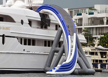 Commercial Grade Inflatable Water Slide ,  Inflatable Yacht Ship Slide For Water Sport