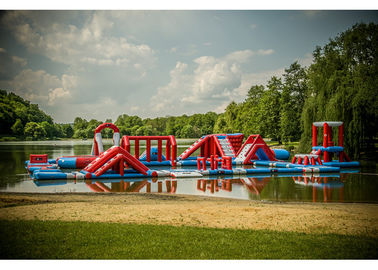 Lake Big Floating Aqua Park / Inflatable Obstacle Course For Business