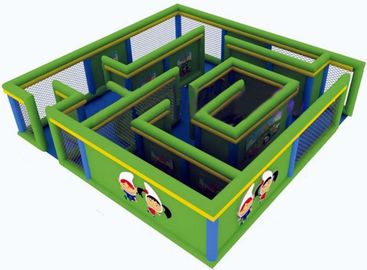 Durable Green Maze Game For Chilren, Inflatable Chilren Park Games