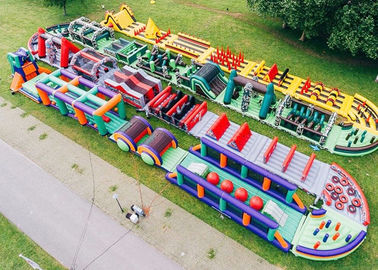 Outdoor Boot Camp Inflatable Obstacle Challenges / Giant Inflatable Obstacle Course