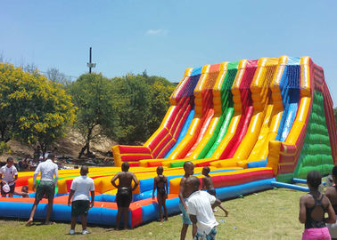 Commercial Giant Inflatable Slide With 6 Lanes For Children CE UL SGS