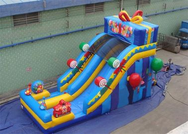 Happy Birthday Gift Inflatables Water Slides , Inflatable Candy Slide with Advance Printing
