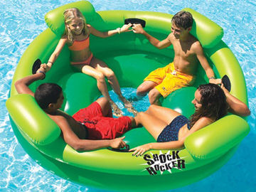 Entermainment 4 Person Inflatable Floating Island / Inflatable Shock Rocker