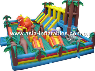 Inflatable Funland With Inflatable Slide Combo For Kids Amusement Equipment