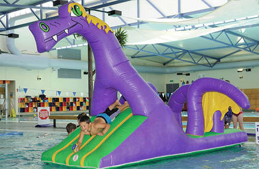 Creative Purple Dragon Water Obstacle Slide For Swimming Pool Games