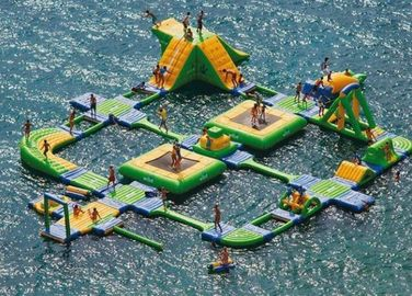 Huge Wibit Sport Inflatable Water Parks , Aqua Park Games
