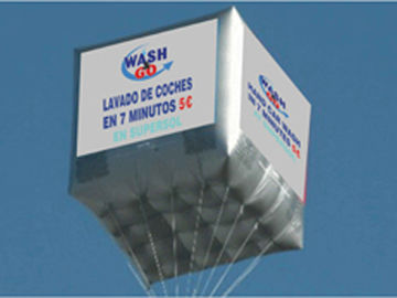 Outdoor advertising square balloon with pvc material
