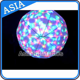 LED Light  Helium Balloon And Blimps , Flying Advertising Colorful Inflatables