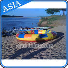 Waterproof 10 Person Round / Disc Inflatable Disco Boat Hot Welding With Blowers